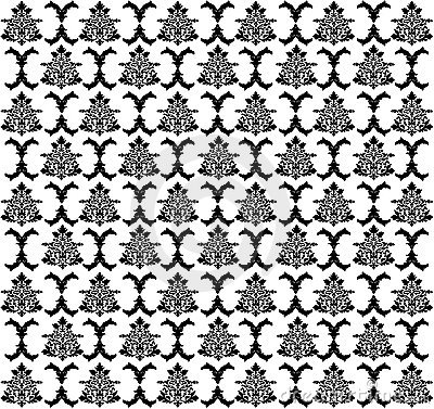 Vector. Seamless rococo pattern
