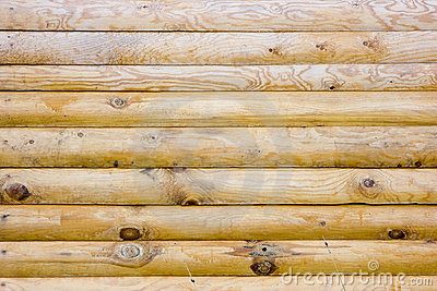 Structure of a wooden wall