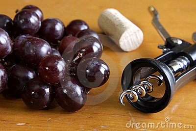 Red Grapes and Wine Tools
