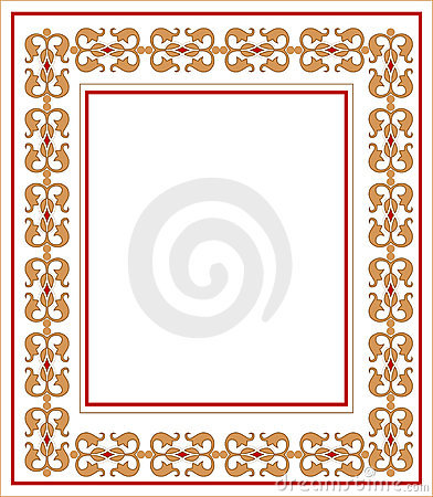 Frame with ornament