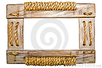 Picture frame on white background.