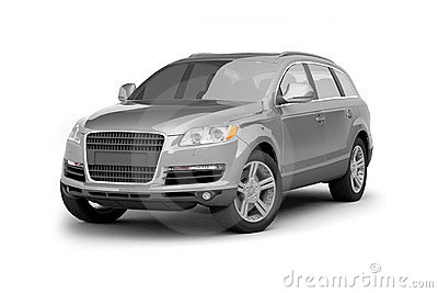 Luxury silver crossover SUV