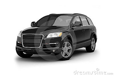 Luxury black crossover SUV