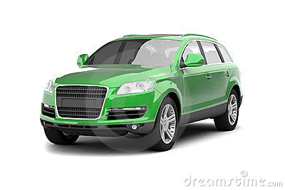 Luxury green crossover SUV