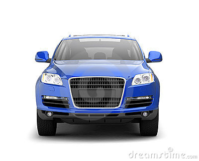 Luxury blue crossover front view
