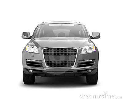 Luxury silver crossover front view