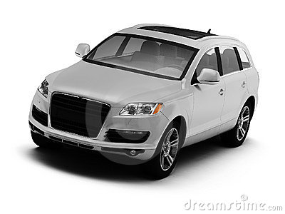 White isolated comfortable SUV