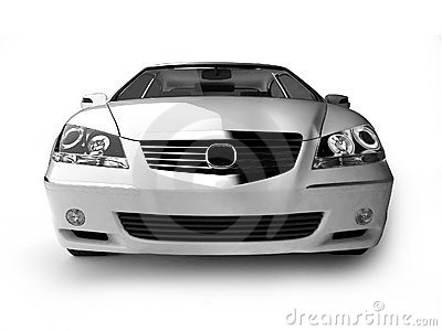 White sport car front view