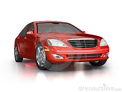 Large luxury red car