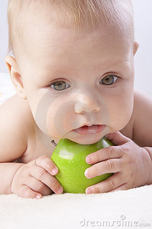 Babe and an apple #5