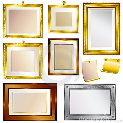 Set of beautiful frames