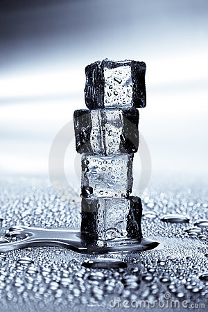 Ice cubes melting