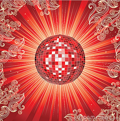 Background with disco-ball