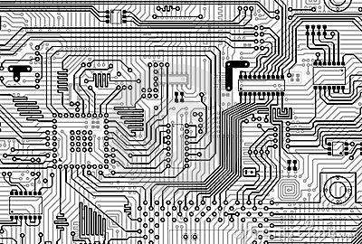 Circuit electronic gray background
