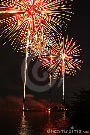 Fireworks Over Long Island Sound