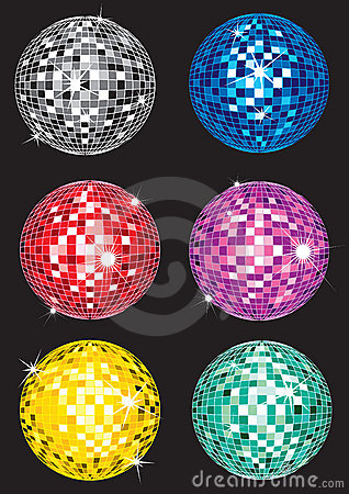 Set of discoballs