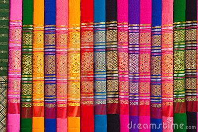 Patterns of Thai native cloths