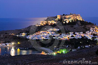 Night Lindos