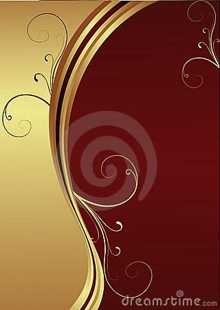 Vector Red and Gold background