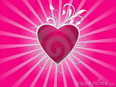 Abstract Valentine Heart Background