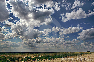 Summer dramatic clouds