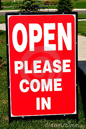 Open House (Please Come in) Sign