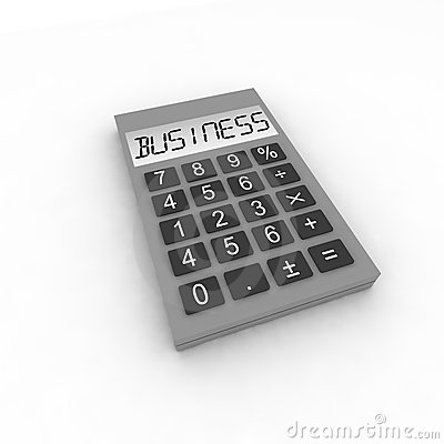 Calculator with word business