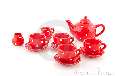 Cheerful red crockery