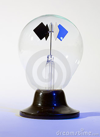 Photon light spinner science toy; isolated