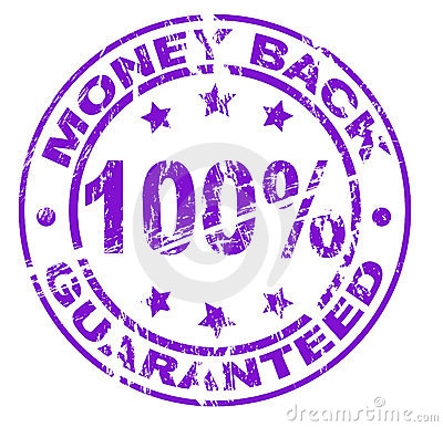 Money back stamp (vector included)