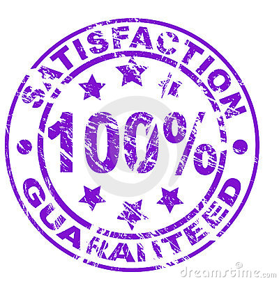 Satisfaction guarantee stamp (vector file included
