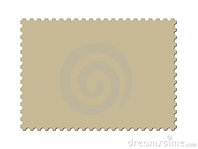A blank postage stamp template (vector included)
