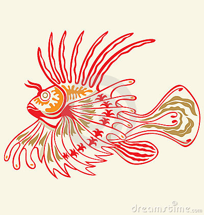 Tattoo Lionfish