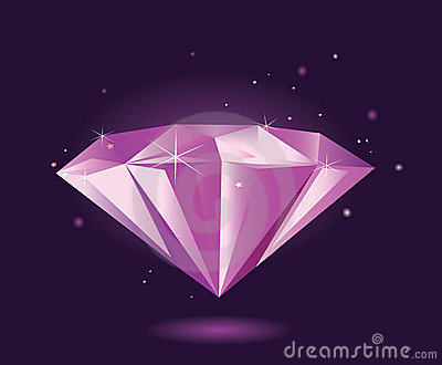 Purple diamond – VECTOR