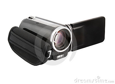 Digital camcorder isolated