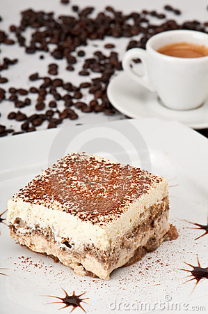 Tiramisu and Coffee