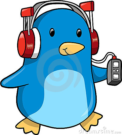 Music Penguin Vector Illustration