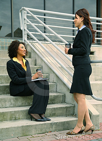 Asian And African American Businesswomen
