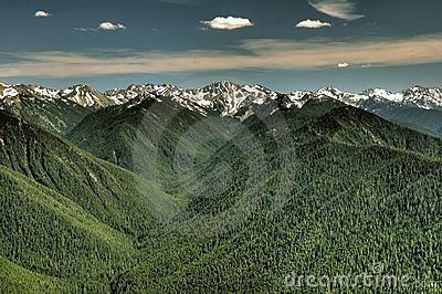 Olympic range and valleys