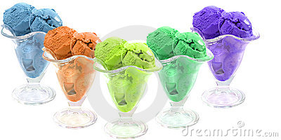 Colored ice cream