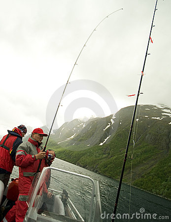 Fishing in fjord