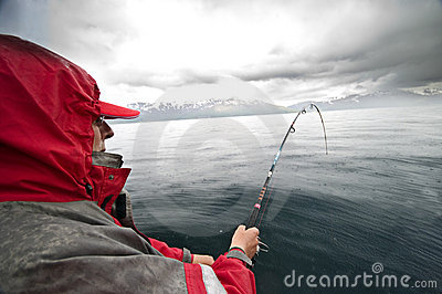 Rainy fishing