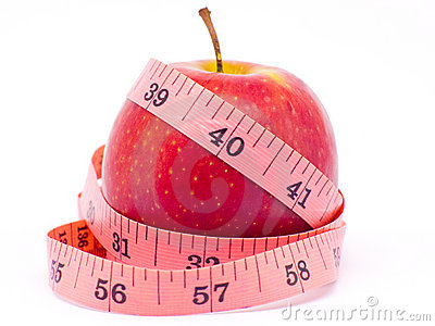 REd Apple with measure tape