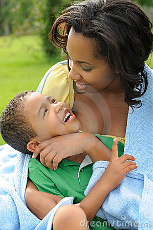 Happy Mother and Child