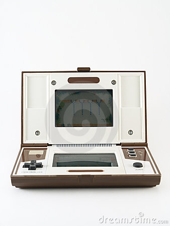 Vintage handheld video game computer