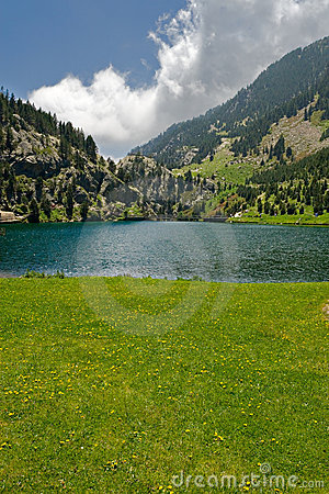 Vall de Nuria lake, Pyrenees, Spain
