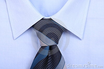 Blue tie with blue shirt