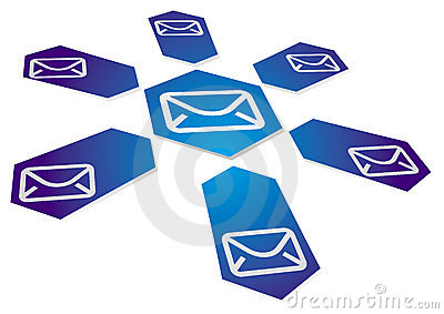 Communication background with email sign