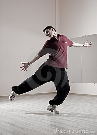 Guy dancing in dance studio