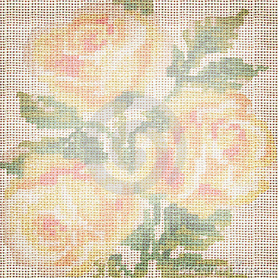 Background fabric with the embroidered roses